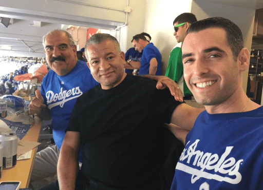 John at Dodgers game